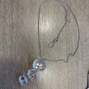 Gorgeous crystal necklace/925 stamped necklace